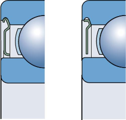 Защитные шайбы радиальных шариковых подшипников