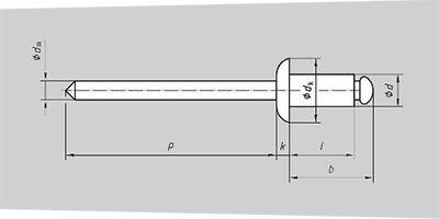 Размеры вытяжных заклёпок