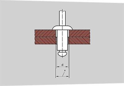 Соединение на вытяжной заклёпке