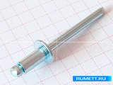 Заклёпка вытяжная 4,8x12 мм Сталь/Сталь